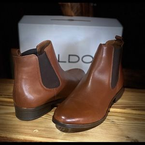 Aldo Ankle Leather Boot Brand New in Box